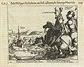 Frederik Hendrik en Christiaan van Anhalt verdrijven de Waalse troepen bij Rekem bij Maastricht, 1610, BI-1958-935-282.jpg