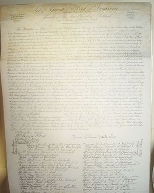 Disruption of 1843 - The 1843 deed of demission