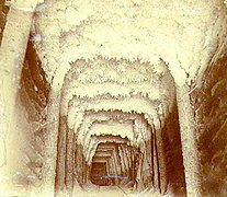 Frost in the entrance to a tunnel in a placer gold mine, Yukon Territory, ca 1899 (MEED 167).jpg