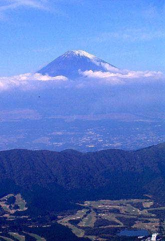 Hakone - Mount Fuji from Mt. Kami in the Fuji-Hakone-Izu National Park