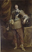 Full length portrait painting of Gaston of France, Duke of Orléans in 1634 by Anthony van Dyck (Musée Condé).jpg
