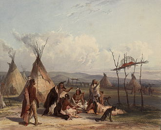 Wagluhe - In 1864, Old Chief Smoke died and was placed on a scaffold near sight of his beloved Ft. Laramie.