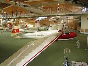 Göppingen Gö 3 - Göppingen Gö 3 Minimoa, on display in the Deutsches Segelflugmuseum