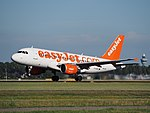 G-EZBJ easyJet Airbus A319-111 cn3036 takeoff from Schiphol (AMS - EHAM), The Netherlands pic1.JPG