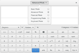 GNOME Calculator - Image: GNOME Calculator 3.14.90