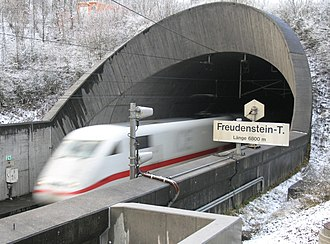 GSM-R - GSM-R directional antennas pointing into the east end of the Freudenstein tunnel, Germany