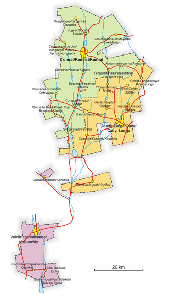 Gagauzia - Schematic map of Gagauzia.