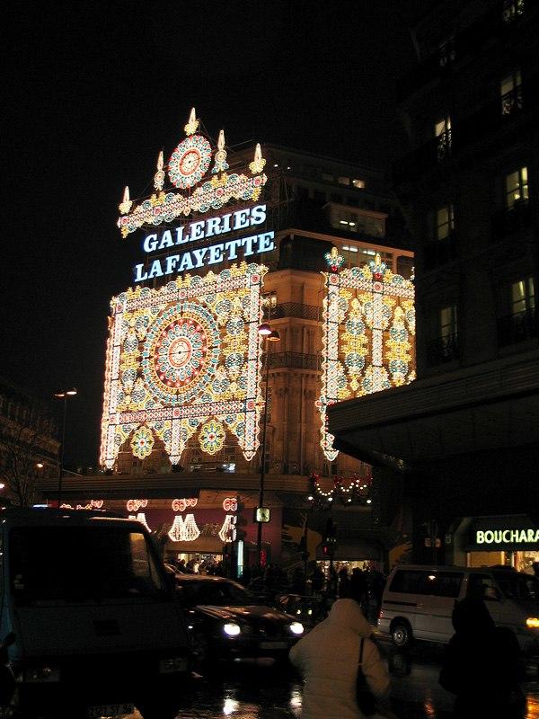 Galeries lafayette xmas night