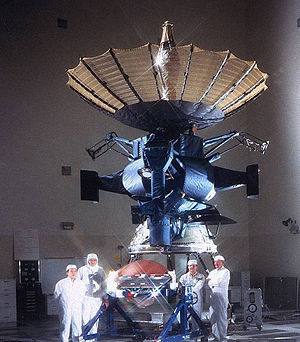 Galileo (spacecraft) - Galileo with its main antenna open