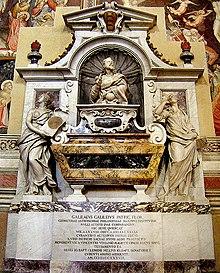 Mausolée de Galilée à l'église Santa Croce de Florence.