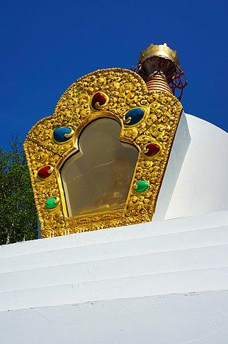Gampo Abbey - Gampo Abbey Stupa detail.