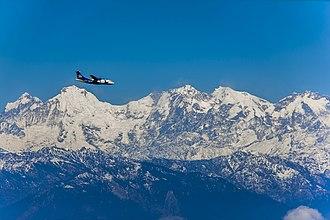 Ganesh Himal - Image: Ganesh Mountain Range seen from Chandragiri Hill, Kathmandu. (By Saroj Pandey)