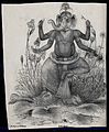 Ganesha with rat. Lithograph. Wellcome V0045011.jpg