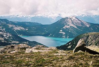 Mount Price (British Columbia) - Garibaldi Lake with Mount Price in the background