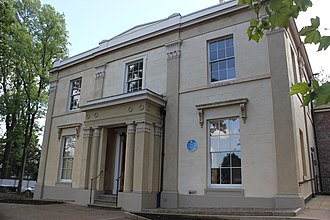 84 Plymouth Grove - The front facade of 84 Plymouth Grove, now known as Elizabeth Gaskell's House