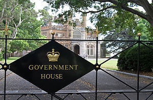 Government House, Sydney - Image: Gateway to Sydney Gov. House, jjron, 03.12.2010