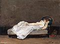 Gauguin 1875 Mette Gauguin dormant sur un canapé.jpg