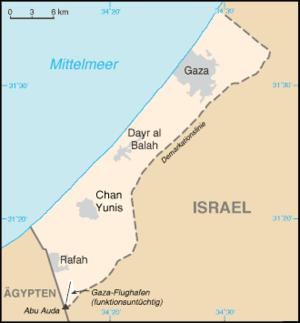 Gazastreifen Karte