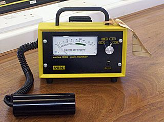 Geiger counter Instrument used for measuring ionizing radiation