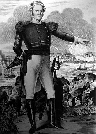 Winfield Scott - A drawing of Scott at the Battle of Veracruz