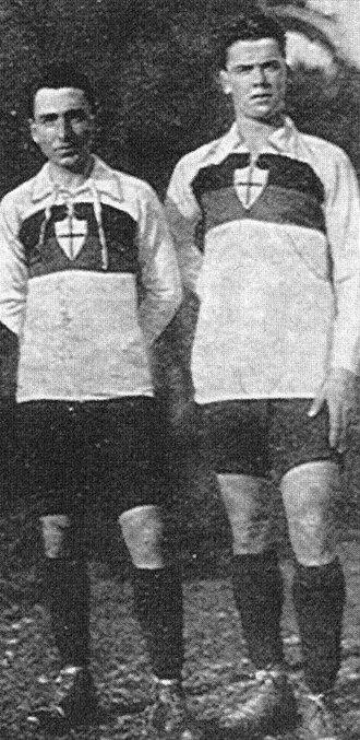 Renzo De Vecchi - Renzo De Vecchi (left) with Claudio Casanova circa 1914