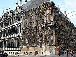 Gent Stadhuis Hoek Hoogpoort Botermarkt.JPG