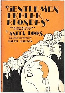 <i>Gentlemen Prefer Blondes</i> (novel) 1925 comic novel by Anita Loos
