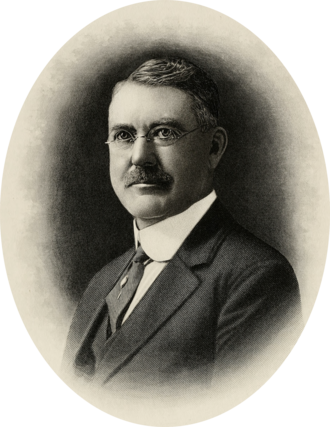 George P. B. Alderman - Engraved portrait of Alderman, c. 1925