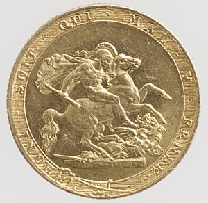 Benedetto Pistrucci - Reverse of the 1817 sovereign