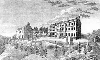 Georgetown College close in appearance to during Neale's tenure Georgetown 1829.jpg