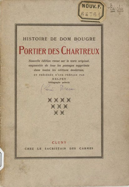 File:Gervaise de Latouche - Histoire de Dom Bougre, Portier des Chartreux,1922.djvu