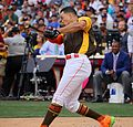 Giancarlo Stanton competes in semis of '16 T-Mobile -HRDerby. (28468360432).jpg