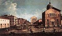 Giovanni Antonio Canal, il Canaletto - View of San Giuseppe di Castello - WGA03931.jpg