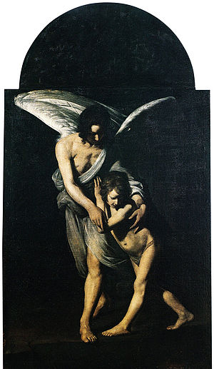 Giovanni Antonio Galli (artist) - The Guardian Angel (Rieti, St. Rufo Church)