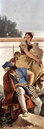 Giovanni Battista Tiepolo - A Seated Man and a Girl with a Pitcher - WGA22348.jpg