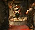 Giovanni maria butteri, sacra conversazione, 1597, 07 firma e data fiori.jpg
