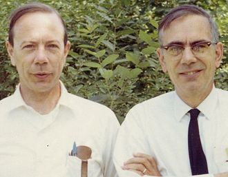 Andrew M. Gleason - With his brother, linguist Henry Allan Gleason Jr., in Toronto, 1969