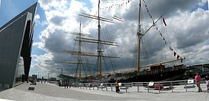 Glenlee (ship) - Glenlee docked at her new home outside the Riverside Museum, Glasgow.
