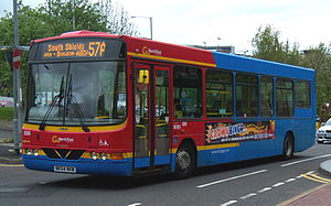 Go North East - Wright Cadet bodied VDL SB120 in the now defunct corporate livery in May 2009