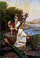 Goddess Saraswati by Raja Ravi Varma, 1896.jpg