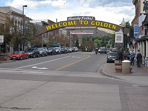 Golden, Colorado - A view of downtown Golden