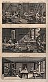 Goldsmith's workshop; interior view, gilding frames with too Wellcome V0023699.jpg