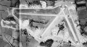 RAF Gosfield - Gosfield airfield photographed in March 1945