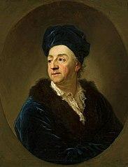 Portrait of Johann Nepomuk von Schaffgotsch in a bathrobe.