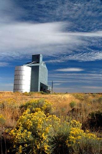 Sherman County, Oregon - A grain elevator at Highway 97 and Rosebush Lane, Sherman County