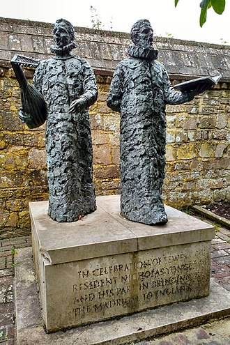 Madrigal - A statue commemorating Nicholas Yonge (who introduced madrigals to England) in Lewes
