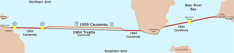 Great Salt Lake Causeway Map