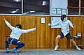 Greek Epee fencers. Ilias Konstantinidis (left) and Aris Koutsouflakis (right).jpg