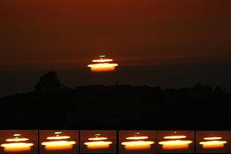 Green flash - A mock-mirage green flash observed in San Francisco, California