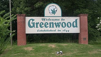 Greenwood, Mississippi - Image: Greenwood MS Welcome Sign